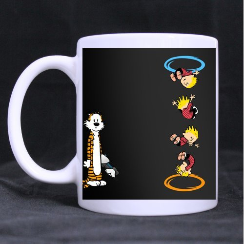Calvin and Hobbes Portal crossover Custom Morphing Mug(Tazzine da caffè)