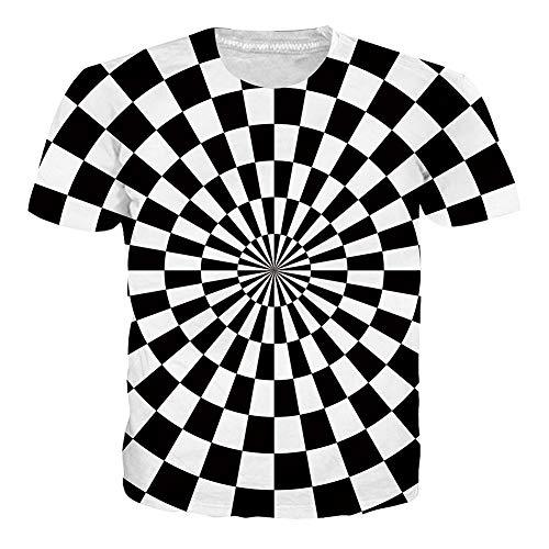 NEWISTAR Herren Unisex 3D Druckten Sommer-beiläufige Kurze Hülsen-T-Shirts T-Stücke -
