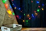 Snow White 50 Multi Coloured LED String Fairy Lights for Xmas Tree Party Wedding Events Garden(8 Lighting Functions, Memory function) - Athentic Quality Indoor Use Only
