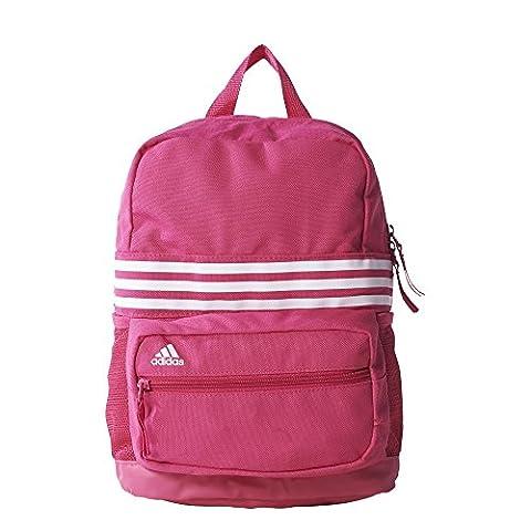 adidas Mädchen Rucksack Sport 3-Streifen XS, Pink/Weiß, 15 x 30 x 46 cm, 20 Liter, AJ9410