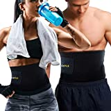 FIT PICK Sweat Slim Belt for Women|Men, Body Shaper Slimming| Waist Trimmer Belt - Includes Carry Bag