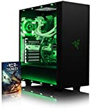 VIBOX Voxel GS570-345 PC Gamer Ordinateur avec Jeu Bundle (4,0GHz Intel i3 Quad-Core Processeur, ASUS Nvidia GeForce GTX 1070 Carte Graphique, 32GB DDR4 RAM, 120GB SSD, 2TB HDD, Sans OS)