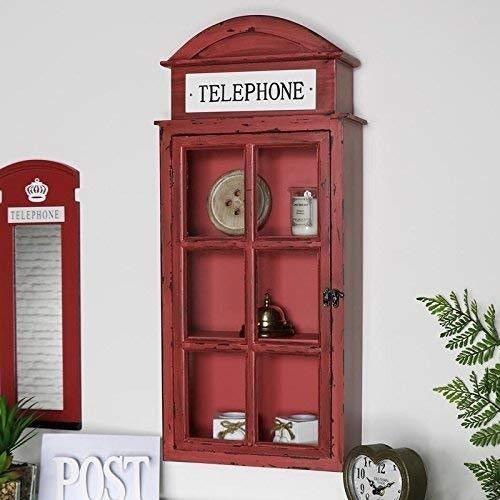 Generic * storag telephone box ll stora cabinet london red wal red decorazioni da parete scaffali ondon tele s decorazione sala armadio s decorazione