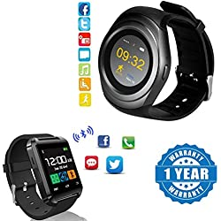 Drumstone Bluetooth T-11 Wearable Device BT 3.0 TF Card Slot MP3 Mobile Phone Smartwatch With U8 Touch screen smart watch with Remote camera and Sim card slot Compatible with Xiaomi Mi, Lenovo, Apple, Samsung, Sony, Oppo, Vivo Smartphones (1 Year Warranty)