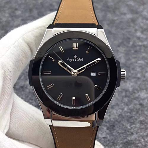 AHELUSB Herrenuhr Automatik Mechanik Edelstahluhren Silber Braun Leder Gummi Rose Gold Grau Blau Schwarz7