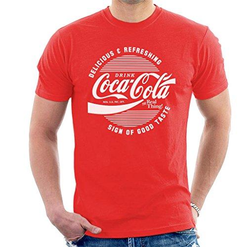 Coca-Cola Circle Logo White Text Men's T-Shirt (Coca-cola Herren)