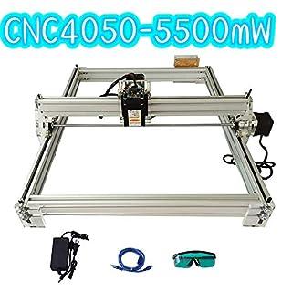 TOPQSC 40X50 CM DIY CNC Laserengraver Kits 12 V USB Desktop Laser Graviermaschine (5500mw)