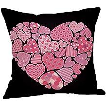Fundas de Cojines,SHOBDW Regalo de San Valentin Fundas de Almohada Sofá de Lino Color