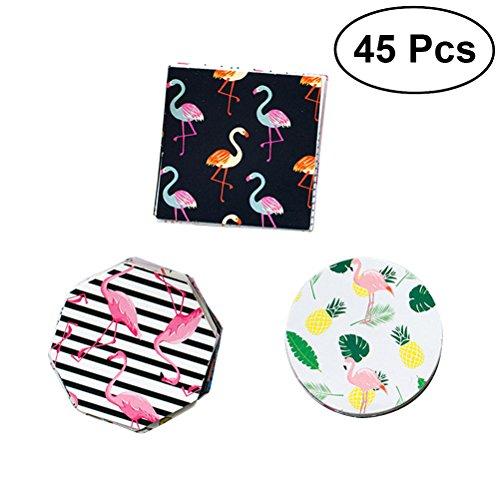 LUOEM Flamingo-Aufkleber Dekorative Flamingo-Partei-Aufkleber Flamingo-Partei-Bevorzugungs-Aufkleber für selbst gemachte Festlichkeits-Süßigkeits-Kasten-Taschen, die Umschlag-Aufkleber Hochzeits-Bevorzugungs-Dekorationen versiegeln, Satz von 45 (Partei Die Für Süßigkeiten)