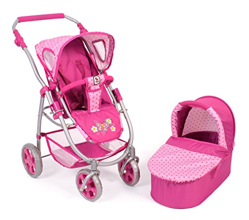Bayer Chic 2000 638 31 - Puppenwagen Emotion 2-in-1, Dots Rosa
