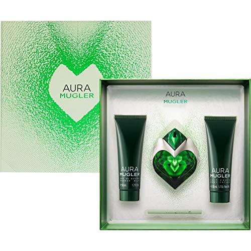 Aura-eau De Parfum-spray (Thierry Mugler Aura 30ml Eau de Parfum & 50ml Body Lotion & 50ml Douschgel)