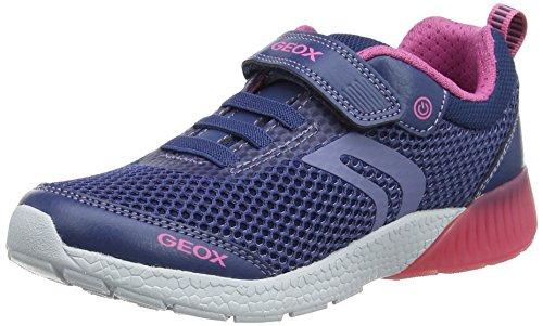 h A Low-Top Sneaker, Blau (Avio/Fuchsia), 33 EU (Mädchen-patent Schuhe)