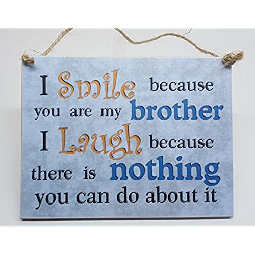 Birthday gifts for brother amazon i smile because you are my brother hanging plaque brother gift birthday christmas negle Image collections