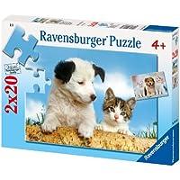 Ravensburger 91669 Cane e Gatto Puzzle 2x20 pezzi
