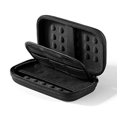 """UGREEN Festplattentasche 2.5 zoll Festplatte Tasche stoßfest HDD case geeignet für 2,5"""" Western Digital, Seagate, Samsung, Toshiba HD, USB Kabel, USB Stick, Speicherkarten Schwarz Test"""