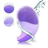 Gesichtsreinigungsbürste Silikon Elektrische Gesichtsbürste Silikon Gesichtsmassagegerät Sonic Tiefenreinigung Hautpflege Gerät wasserfeste, USB wiederaufladbares, für Alle Hauttype
