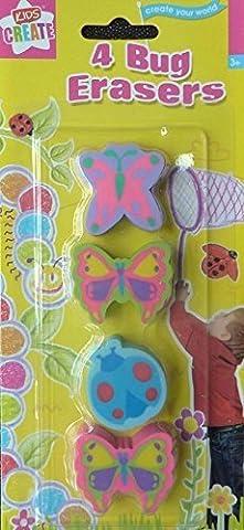 Radierer Fun Fruit Duft Animal Transport Bugs Würfel Glitzer Funky multicoloued Candy Rock Kinder Schule Klassenzimmer Stationery Tütenfüller, plastik, bugs, Einzelbett
