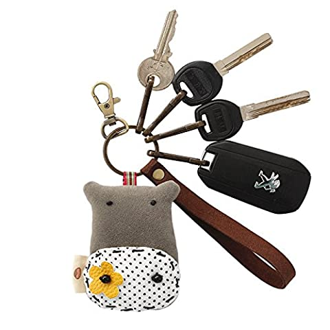 AIURLIFE DIY Hippo key chain car bag pendant ,
