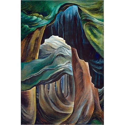 Stampa su legno 40 x 60 cm: Wald - Forest British Columbia di Emily Carr