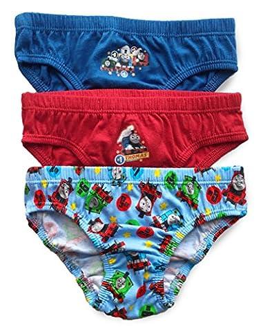BOYS THOMAS PANTS BRIEFS SLIPS UNDERWEAR COTTON - Pack of 3 (3 - 4 Years, Multi)