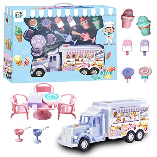 Eiscreme Lernspielzeug EIS Spielzeug Supermarkt mit Auto Rollenspiel Rollenspiele Geschenkset für Kinder Mädchen