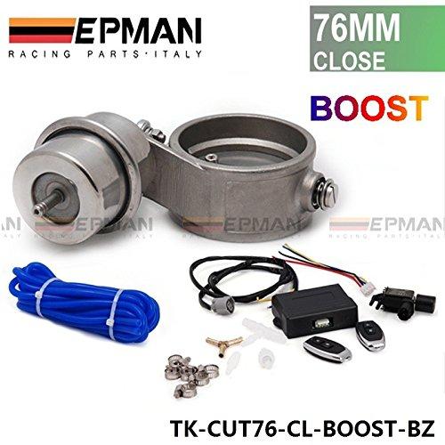 'Tubo di scarico della valvola di controllo Set di chiavi a bussola con Boost Actuator Scollo a 376mm tubo chiuso con Wireless Remote Controller di set di TK-CL Boost cut76BZ