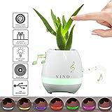 Jarrón YINO de música Bluetooth, altavoz Bluetooth recargable, 7 colores, luz nocturna LED, tócalo y sonará el piano