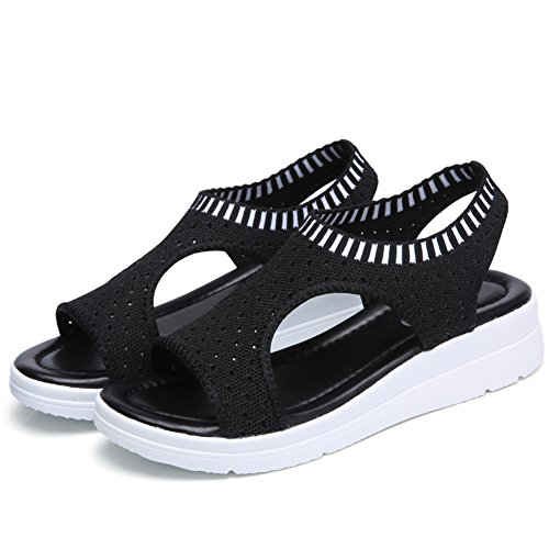 Summer,Lady,Respirante,Mesh Chaussures/Plat,Sandales Casual C