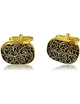 Black & Goldene Manschettenknöpfe mit Alfred & Co. Manschettenknöpfe Box