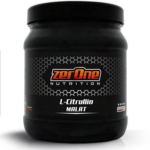 ZerOne Nutrition L-Citrullin Dl-Malat Hochdosiertes Pulver - In Deutscher Premium Qualität, Vegan - Verhältnis - Zwei : Eins, 1er Pack (1 x 250 g)