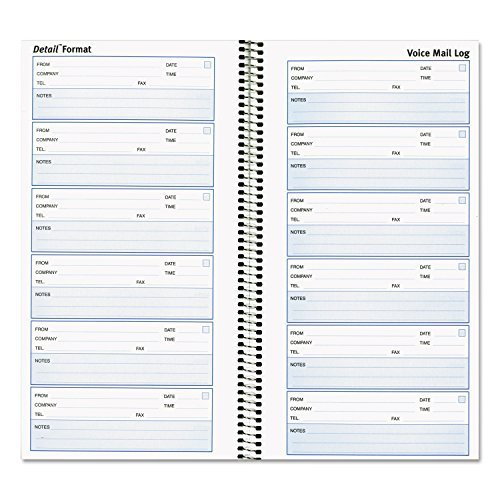 Rediform Office Products Products - Detailed Voice Mail Log Book, 10-5/8x5-5/8, White - Sold as 1 EA - Voice mail log makes it easy to record voice messages, follow up on them and store them for future reference. Great for use with answering machines or voice mail systems. Durable and lightweight book can be easily taken on the road. Each message form includes place for caller's information (company, telephone and fax), date, time and message. by Rediform Voice-message-system