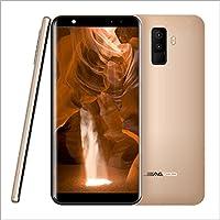 "leagoo m9 - smartphone 3g barato,móviles y smartphones libres,movil leagoo 5.5"" Pulgadas 8MP Quad Cámaras RAM 2GB+ROM 16GB 32 GB extendidos Quad Core 1.3GHz CPU 2850mAh Android 7.0 telefono de Leagoo Direct, Oro"