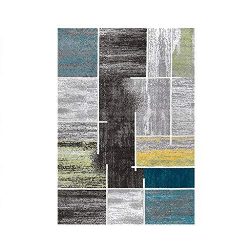 Géométrique Damier Bleu Vert Salon Tapis Chambre All Suite Couverture De  Chevet Moderne Minimaliste Canapé Table