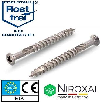 1.4567 1197000350163 4/Cut /Vis universelle 1197000400353 T-Star plus Spax/ acier inoxydable A2 T t/ête frais/ée