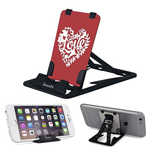 Slim-Pro Stand by amusent-Ultra Slim Tragbares Telefon Ständer, Kickstand-As Klein Wie Kreditkarte, Pocket Size-Foldable, Verstellbar, Mehrwinkel-, Kompatibel w/iPhone, Smartphones & Tablets, Love 2