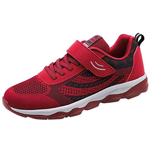 HDUFGJ Damen Schuhe des Alten Atmungsaktiv Bequem Leichtgewicht rutschfest Sneaker Fliegendes Weben Hohe Hilfe Atmungsaktiv Laufschuhe Freizeitschuhe Bequem Leichtgewicht rutschfest 38(rot) - Neueste Schuhe Nike Damen