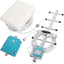 Proutone Celular gsm 900MHz Repetidores de Señal Teléfono Móvil de Refuerzo Amplificador de la Señal del Receptor con Panel y Yagi Antena Kit