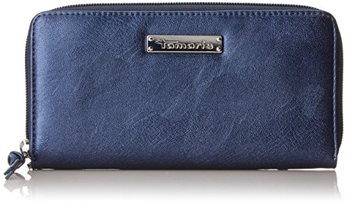 Tamaris Damen Debra Big Zip Around Wallet Geldbörse, Blau (Navy), 2x10x19,5 cm