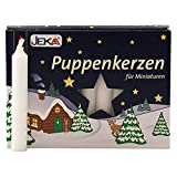 2er Pack Puppenkerzen weiß ca. 10 x 65 mm (2 x 20 Stück), Puppenlichter, Miniaturkerzen,...