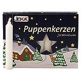 2er Pack Puppenkerzen weiß ca. 10 x 65 mm (2 x 20 Stück), Puppenlichter, Miniaturkerzen, Weihnachtskerzen, Kerzen