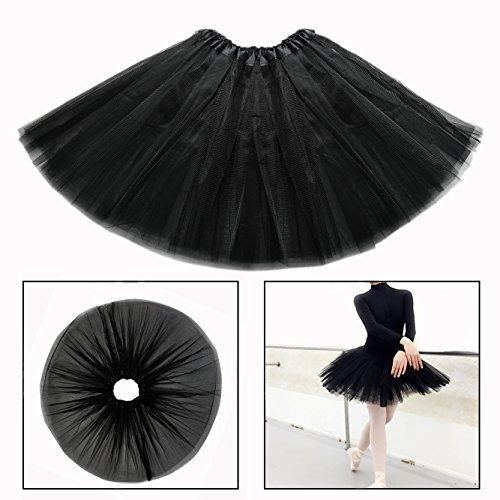 9131999ee OFKPO Niñas Falda de Tul de Ballet Infantil de Negro Disfraz Bailarina  Ballet.