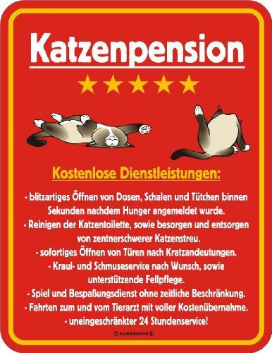 Fun-Schild - Katzenpension, 17 x 22 cm