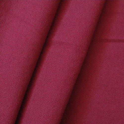 STOFFKONTOR 100% Baumwolle Canvas Stoff Meterware Weinrot - Baumwoll-canvas Stoff
