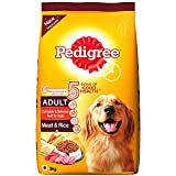 Pedigree Adult Dry Dog Food, Meat and Rice, 3kg Pack