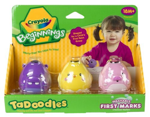 Crayola Beginnings TaDoodles Washable First Marks - Pink, Purple, Yellow