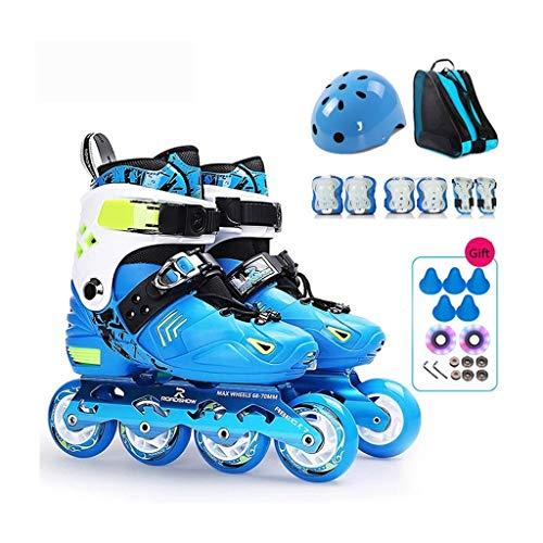 ZPLHX Pattini in Linea Fitness Inline Skate Prestazioni Pattini in Linea Professionale Che corre Pattini velocità Pattini in Linea Unisex (Color : Blue)