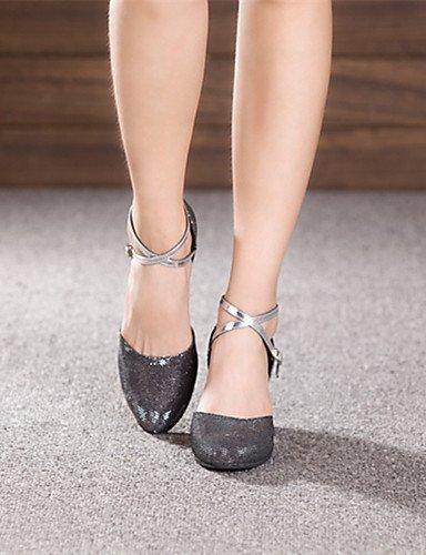 ShangYi Non Customizable Women's Dance Shoes Modern Sparkling Glitter/Paillette Cuban Heel More Colors Black