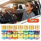 Kbsin212 7 Stücke Auto Aromatherapie Ätherisches Öl Parfüm Duft Diffusor Flasche Lufterfrischer, 10 Ml Duft Parfüm Für Autozubehör Innenverzierung