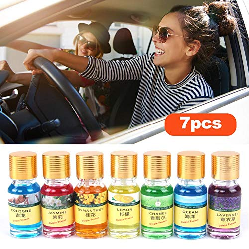 bulrusely Lufterfrischer für Auto, Auto-Parfüm, Luftreiniger, für Pflanzen, ätherisches Öl, für DIY, Seife, Lotion, Creme, Lippenbalsam, Kerze, 7-teilig -