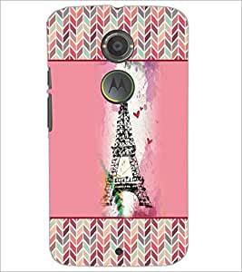 PrintDhaba Tower D-4152 Back Case Cover for MOTOROLA MOTO X2 (Multi-Coloured)